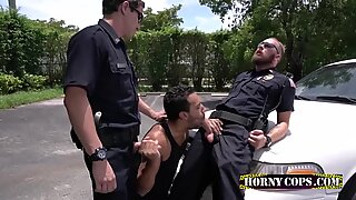 Gay Horny police officers like it rough