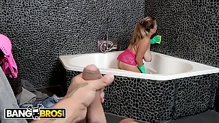 BANGBROS - Busty Latina Maid and MILF Alesandra Gets Railed By Client