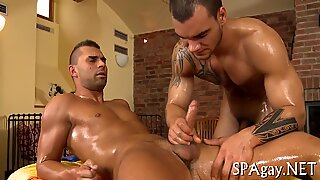 Homo receives lusty toying
