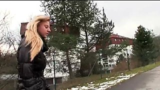 Czech girl was convinced to get fucked