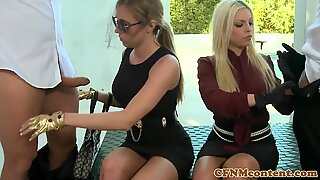 mischievous cfnm female dominance Britney Amber up close