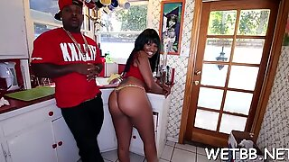 Beguiling young girlfriend Nikki Ford chokes on fat shlong