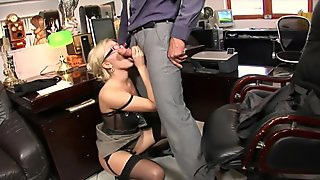 Fhuta - Caught with finger in pussy she gets fucked by the boss