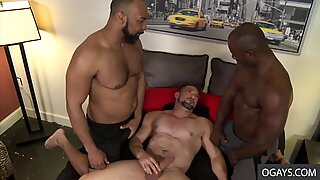 White Needy Boy Ceasar Ventura Begs for Two Big Black Dongs