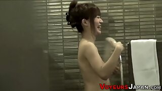 Asian babes in bath house