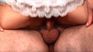 Fucking my hot girlfriend, double orgasm