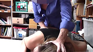 Hot blonde thief Blair Williams punished for sex