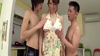 Maki Koizumi gets cock to suck and fuck in group scenes