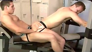 Hot boys having anal sex in the gym
