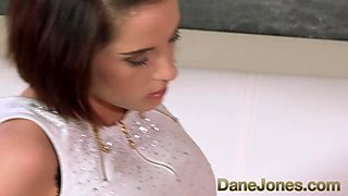 DaneJones Cute brunette with perfect tits gets hot fuck