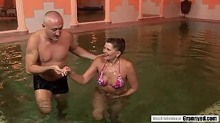 The reward of a swimming lesson is a firm Cock in Samantha's