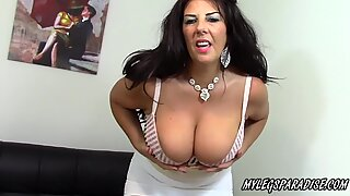 Busty Cougar Lulu Lush masturbate in sexy lingerie