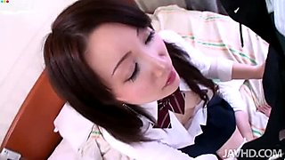 Hussy college chick SHIZUKU MORINO gives pov blowjob