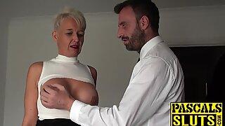 BDSM and bondage training for a horny milf slut in heat