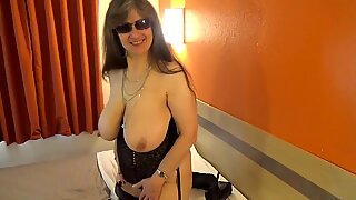 Tinja Dazzles In A Waist Cincher