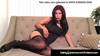 mexican Milf Gabby Quinteros Dildo plunges Her Mature labia!