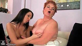 Girls and Chubby Grandmas Lesbian Compilation