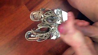 Cumshot on not my sisters High Heels