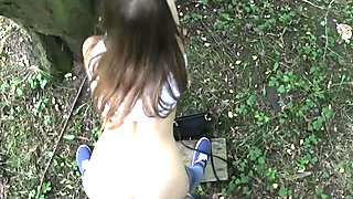 PublicAgent Cute teen Russian fucked outdoors by big cock