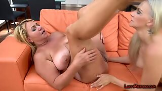 Mature Lesbo Blonde Uses Female Friend