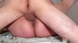 See her squirt and squirm whilst taking giant load of cum