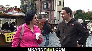 Picked up grannie tourist rails stranger's boner