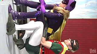 Funny cosplay turns into kinky FFM threesome fuck video