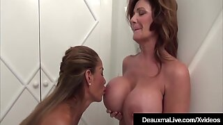 Texas Cougar Deauxma Pussy Grinds Busty Asian Minka !