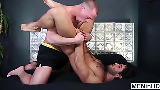 Tommy Regan makes the move on the handsome hunk Diego