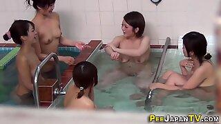Japanese teens showering