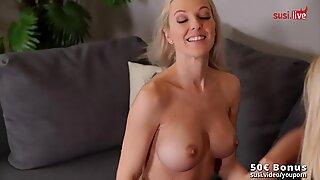 2 hei  e blonde Lesben - Maviepearl & SweetLina - DildoSpass (1 of 3)