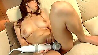 Dainty Japanese babe enjoys riding a fat dick