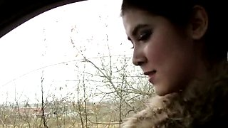 Czech babe hitchhikes and fucked hard