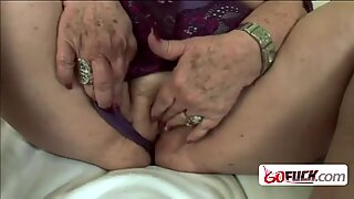 Horny granny gets drilled hard by kinky younger dude with a big cock