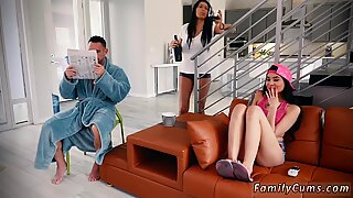 Mom catches crony  chum watching porn hd and hot teen 18 Family Shares A Bed