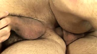 Latin Daddy and Twink Bareback Flip Fuck