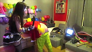 CAM4 2 CLOWNS torture with OHMIBOD a french camgirl kikrak