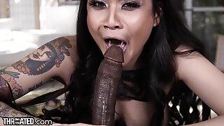 Throated Brenna Sparks Big Black Cock Throatfuck Challenge!