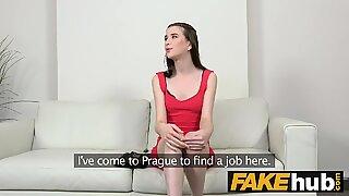 Fake Agent Casting slim pretty shy 18yr Belarus girl with tiny tits