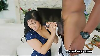 BBC anal with busty Japanese beauty