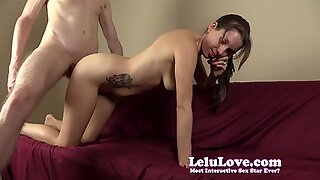 She sucks and fucks while on the phone with her cuckold