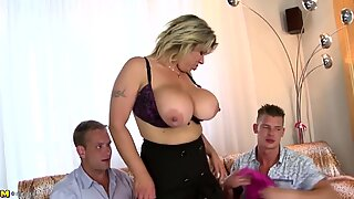 two studs plow posh and busty mature mom