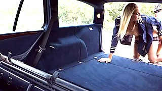 Christen Courtney hitchhikes and banged