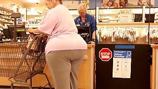 Granny double wide trailer massive ass.