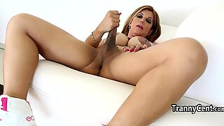 Big tits tattooed tranny enjoy solo