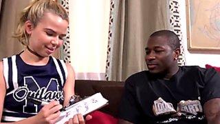Alina West Gets Interviewed Before Her First IR scene