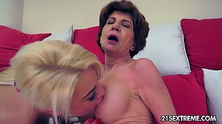 Anastasia has an appetite for mature pussy