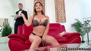 Butler perv fucks hot wife Kaylani Lei
