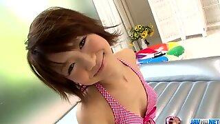 Miriya Hazuki reaches orgasm during nasty Asian threesome