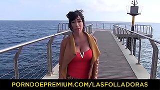 LAS FOLLADORAS - Spanish MILF Suhaila Hard enjoys a threesome with amateur